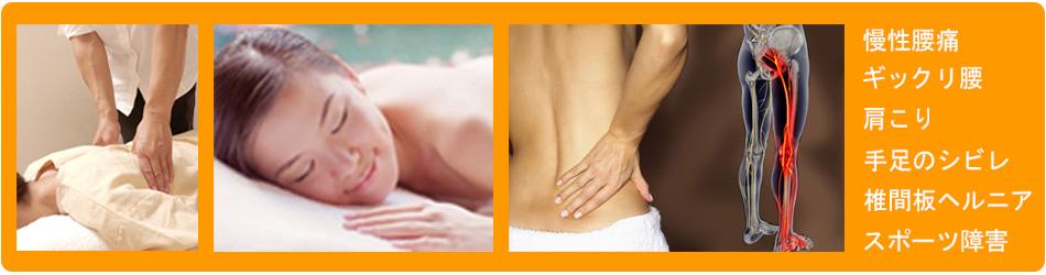 北名古屋市の整体・ボディバランス整体です。 <br/>当整体は、肩こり・頭痛・腰痛・ギックリ腰・顎の不調・寝違い・50肩・ひざの痛み・股関節痛・ひじ痛・坐骨神経痛・椎間板ヘルニア・シビレ・自律神経失調症・慢性症状を専門としています。 <br/>身体の内側からもリラックスでき、症状の完治を目指す整体です。  北名古屋市で口コミNo.1!